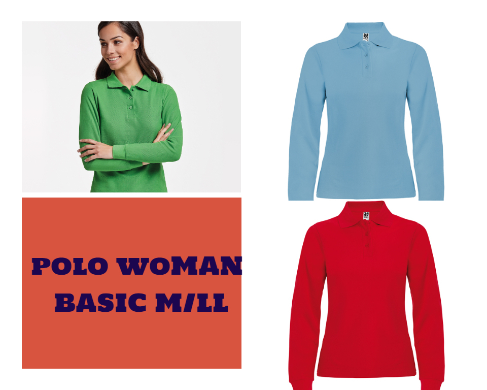 POLO WOMAN BASIC M/LL